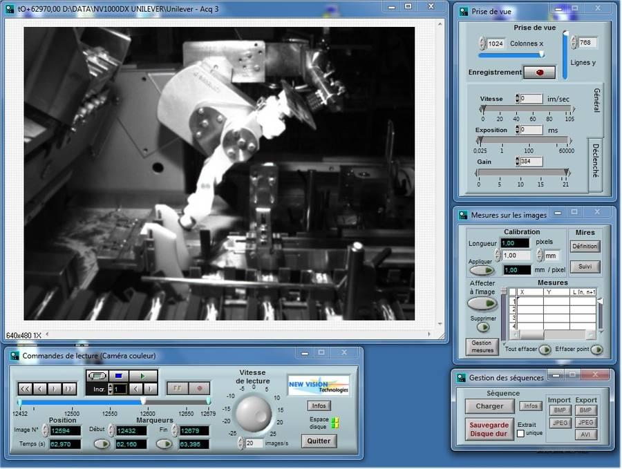 Utilisation du système NV1000 pour la surveillance de ligne de fabrication chez Unilever.