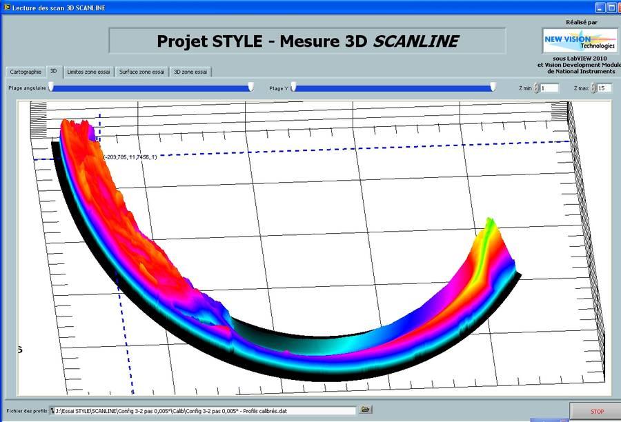 Analyse 3D de la déchirure d'une tuyauterie en acier pour EDF R&D